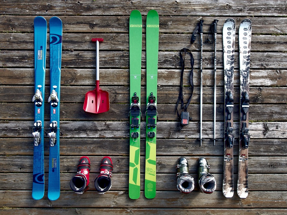 Rent your skis during your winter sports holidays